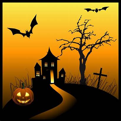 Halloween Haunted Clip Graphics Happy Houses Silhouette