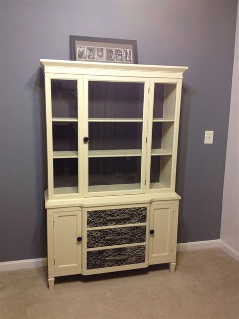 Cabinet China by Our Pinteresting Family China Cabinet Project With Lace