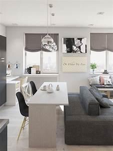 Studio apartment interior design with cute decorating for Interior design for small apartments