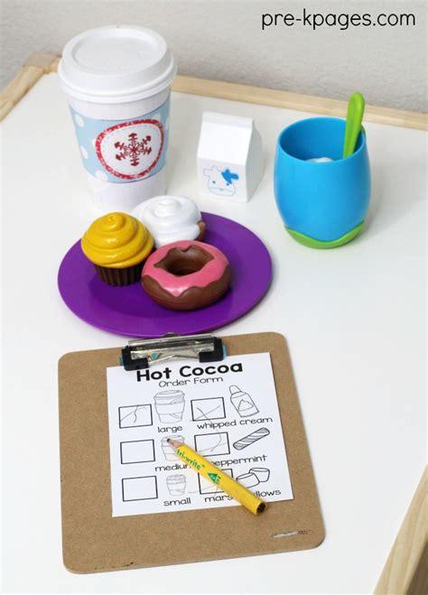 hot chocolate dramatic play theme  preschool