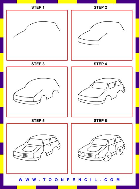 How To Draw A Car Step By Step With Pictures by How To Draw Easy Cars Step By Step