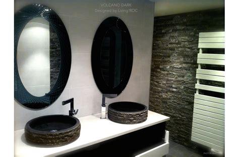 lavabo pour cuisine vasque de salle de bain à poser en basalte noir dia