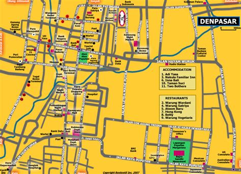map  denpasar bali bali blog