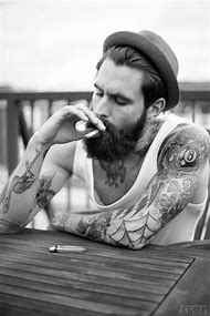 Male Models with Beards and Tattoos