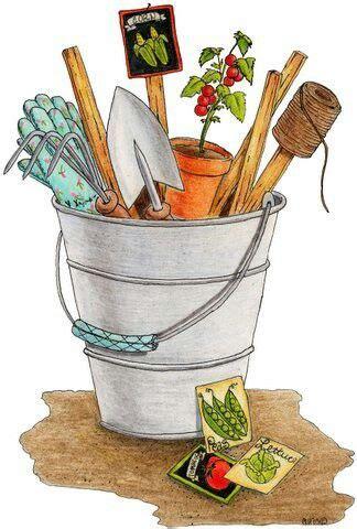 Garden Bucket #clipart #patterns #colored #paintpatterns