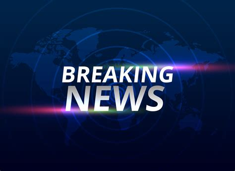 World News by Breaking News Banner Background With World Map