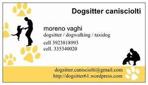 Biglietto da visita dogsitter cani sciolti