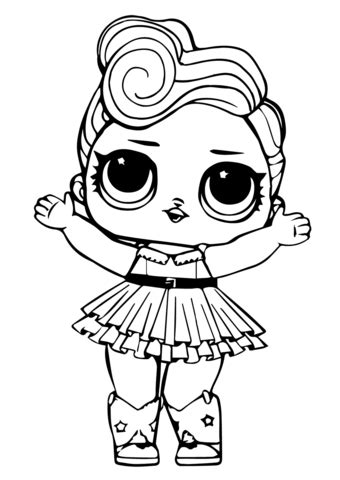 LOL Doll Luxe coloring page Free Printable Coloring Pages