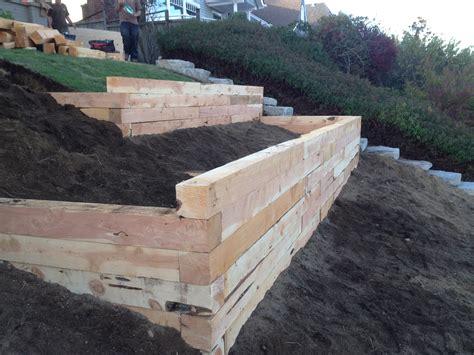 Juniper Landscape Timbers A Project  Fasoldt Gardens