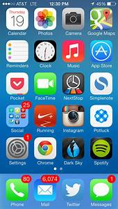 Iphone 5 Home Screen Layout Ideas
