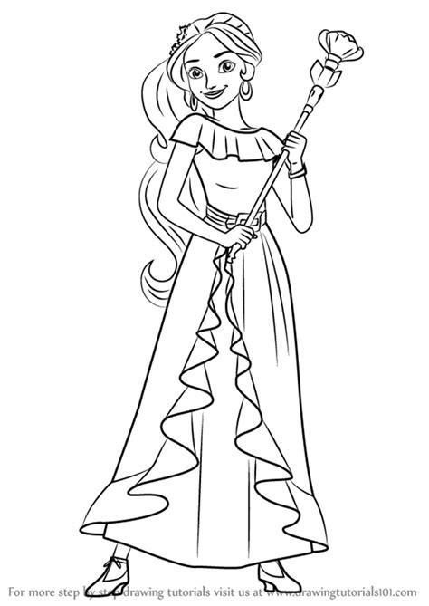 step  step   draw princess elena  elena