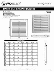 Proslect Filter Grille Psfgw