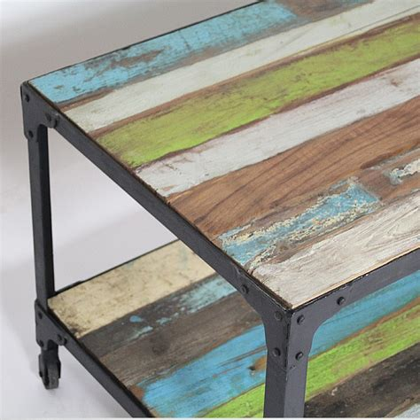 table basse industrielle bois metal factory maison design homedian
