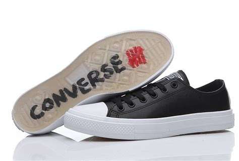 Converse Chuck Taylor Ii All Star Black Leather Low