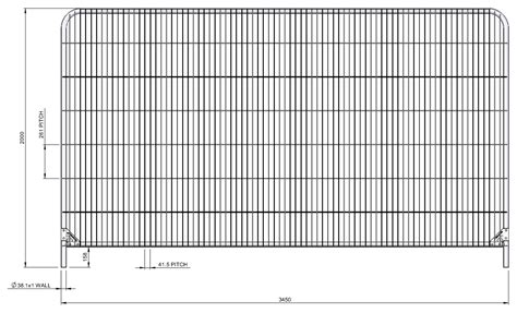 fence sizes temporary fence panels heras fencing wellers hire