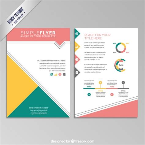 Colorful Geometric Flyer Vector