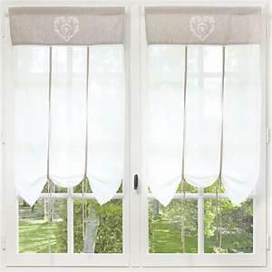 Rideau Court Fenetre : rideau court en coton cru 60 x 110 cm maisons du monde curtain ideas screens pinterest ~ Teatrodelosmanantiales.com Idées de Décoration