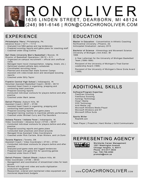 basketball coach resume images frompo 1