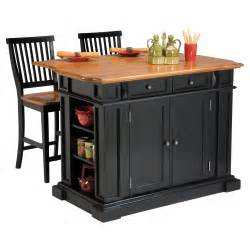 Kitchen Island Chair The Attractive Black Kitchen Island Completed By Back Chairs Bee Home Plan Home Decoration Ideas