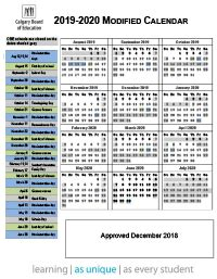 calendars registration calgary board education