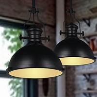 industrial pendant lights 1 pc Black Industrial Pendant Light Dome Shaped Bar Cafe ...