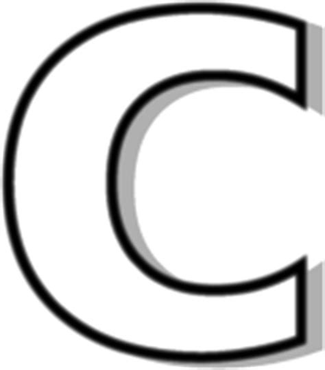 lowercase c clipart lowercase c outline signs symbol alphabets numbers
