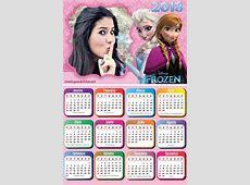 Montagem de fotos Calendário Calendário Frozen 2018