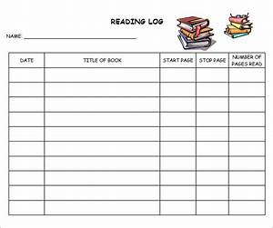 10 sample free reading log templates sample templates With reading log for high school students template