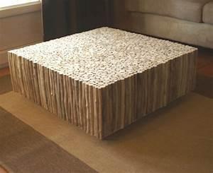 Table Basse En Bois Flotté : table basse carr e bois flott table basse design ~ Teatrodelosmanantiales.com Idées de Décoration