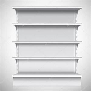 White supermarket shelves — Stock Vector © macrovector ...