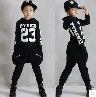 Aliexpress.com  Buy Childrenu0026#39;s Hip Hop Clothing Sets Boys Girls Cotton Letters Street Dancing ...