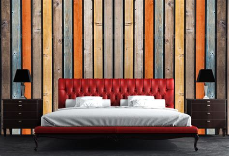 multi colored wood background wallpaper  living room