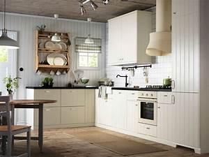 Sitzbank Küche Ikea : ein metod k che mit hittarp fronten in elfenbeinwei ~ Michelbontemps.com Haus und Dekorationen