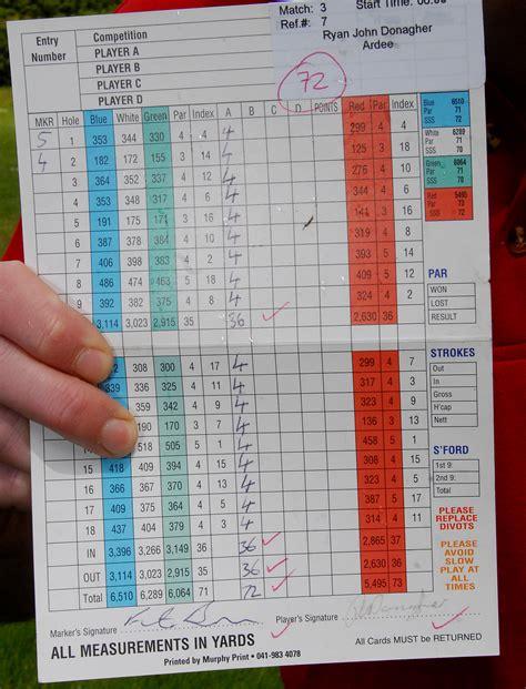 golf scorecard golf scorecard simple but important golf monthly