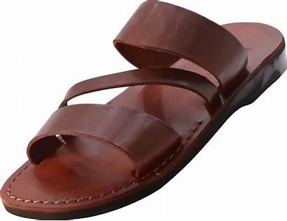 Sandals Biblical Leather Three Strap Slip Handmade