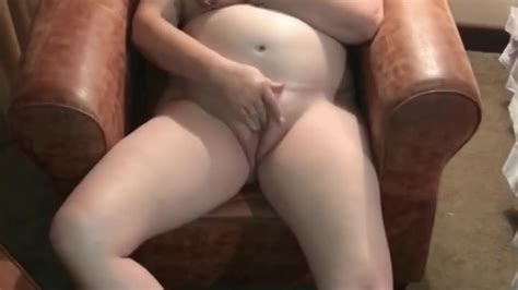 Naked Horny Wife Fingering Her Shaved Pussy To Orgasm