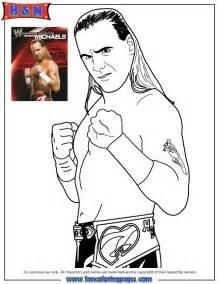 WWE Shawn Michaels Coloring Pages Printable