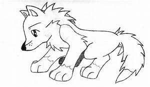 coloring page of a wolf - wolf pup free colouring pages
