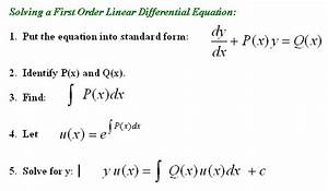 Opinions on Linear differential equation