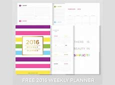 Free 2016 Weekly Planner Life in Eight
