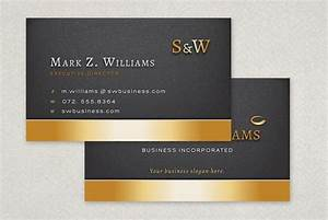 Executive business card template sample inkd 133835 on for Ceo business card sample