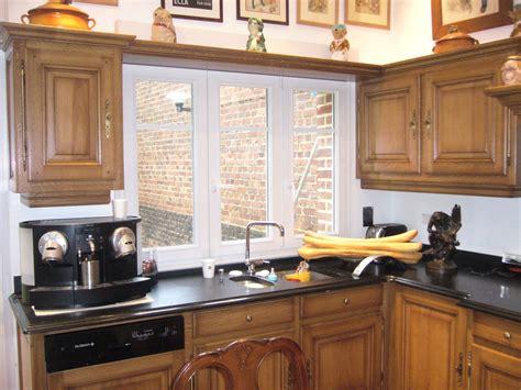 renovation cuisine rustique chene cheap meuble cuisine chene occasion cuisines cuisines