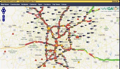 atlanta traffic map my