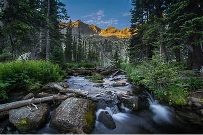 Colorado Mountains River Landscape Trees Wallpapers Desktop