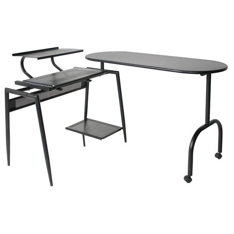 long swing arm desk l home styles deluxe swing arm open desk 163287 office