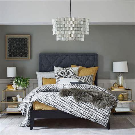 west elm bedroom mustard and navy bedroom home decorating diy