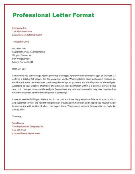 write  business letter format   write letter