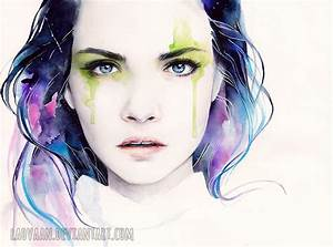 Watercolor Portrait - Cara Delevingne by Laovaan on DeviantArt