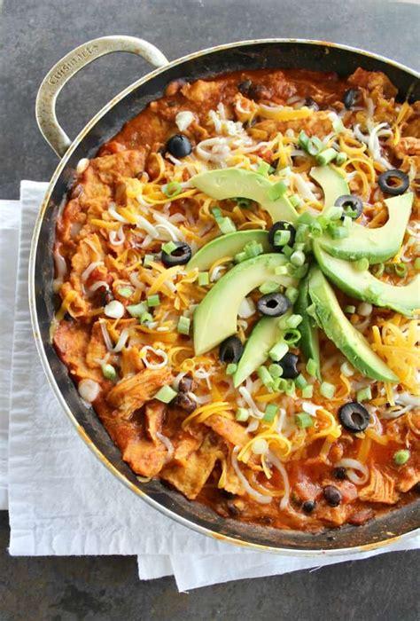 chicken enchiladas   skillet good dinner mom