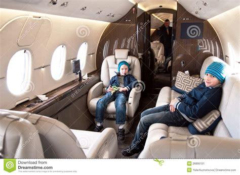 business jet interior stock image image